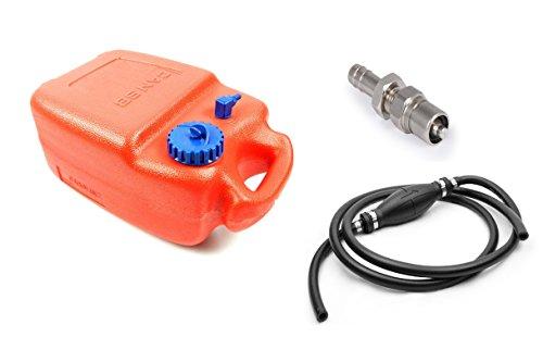 wellenshop Tankset für Außenborder Benzintank 12 Liter, Benzinschlauch, Pumpball, Anschluss kompatibel mit Tohatsu Nissan