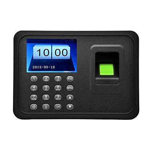 Anself 2.4'TFT Máquina de Asistencia biométrico de Huellas Digitales de LCD Pantalla USB DC 5V / 1A con Reloj del Registrador de Tiempo para empleados