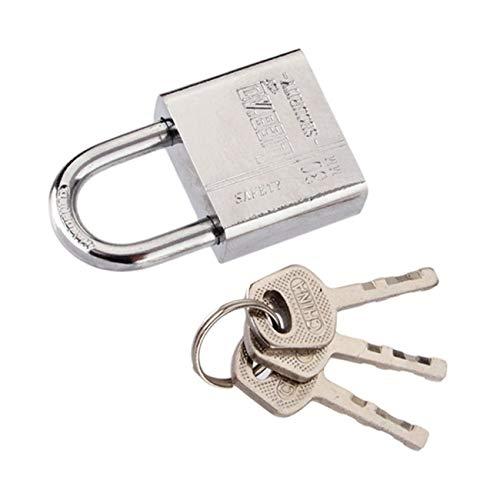 FYstar 3 Keys Durable Security Lock Door Gate Box Safety Stainless Steel Padlock