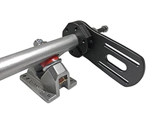 50 mm schwarzes DIY Elektro-Skateboard-Motor-Montage-Kit (Caliber II Truck kompatibel) [Premium] V2