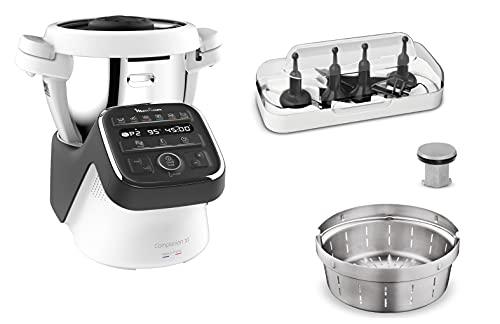 Moulinex - Robot da cucina, Modello: Companion, Misura: XL Companion XL, nero grigio ardesia