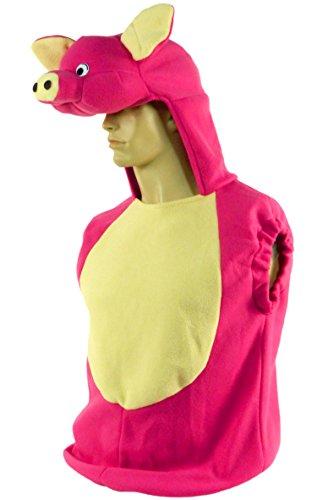 Porc Costume Halloween Pig Suit Pull Revêtement Femme Masque de carnaval avec Rose 4678