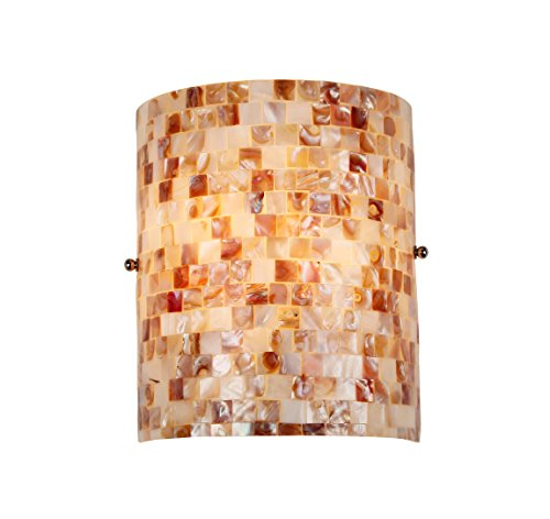 Chloe Lighting CH3CD28CC08-WS1 Moasic SHELLEY, Mosaic 1 Light Wall Sconce, 8.3-Inch, Multi-colored