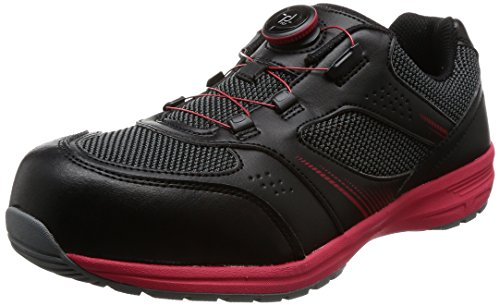 [イグニオ] セーフティシューズ(安全靴) JSAA B種認定 TGFダイヤル式 IGS1018TGF ブラック/レッド 27.5 cm 3.5E