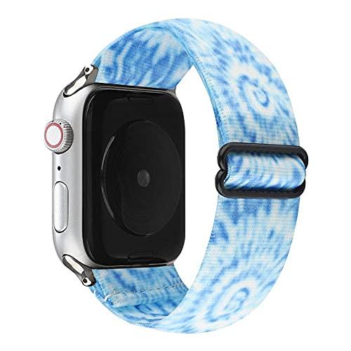 Ternzun Correa ajustable para Apple Watch Series 6 Se 5 4 3 38 mm 40 mm 42 mm 44 mm 44 mm Correa elástica para iwatch Correa Scrunchie Pulsera Correa. (para 38 mm o 40 mm, 16)