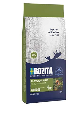 BOZITA Flavour Plus Hundefutter mit Rentier - 12 kg - nachhaltig produziertes Trockenfutter für erwachsene Hunde - Alleinfuttermittel