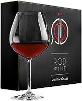 Rotweingläser Set aus hochwertigem Titan Kristallglas, 650 ml, 3-teiliges Kristallgläser & Weingläser Set mit luxuriöser...