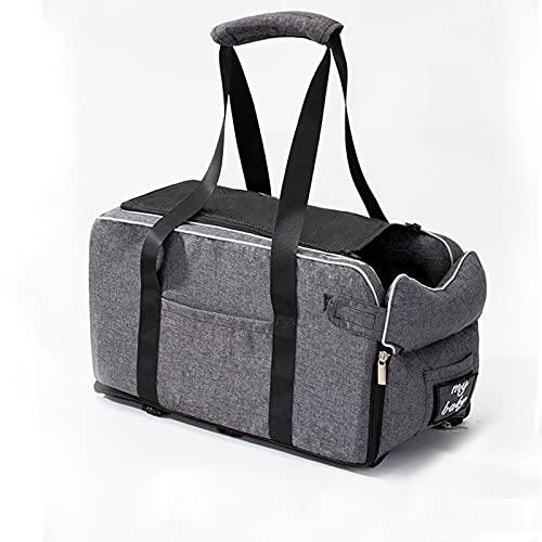 Esenlong Asiento de seguridad portátil para mascotas con correa de almohada ajustable para perros pequeños, gatos y viajes al aire libre