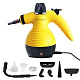 Comforday Multi-Purpose Steam Cleaner, High Pressure Handheld Chemical Free Steam Cleaner with 9-Piece Accessories, Perfect for Stain Removal, Carpet, Curtains, Car Seats,Floor,Window Cleaning(Yellow)