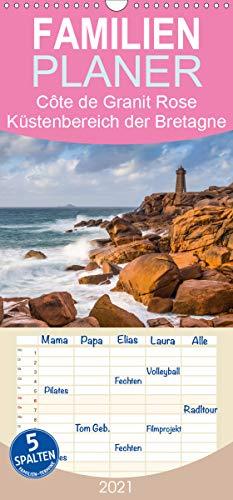 Côte de Granit Rose - Ein Küstenbereich in der Bretagne - Familienplaner hoch (Wandkalender 2021, 21 cm x 45 cm, hoch)
