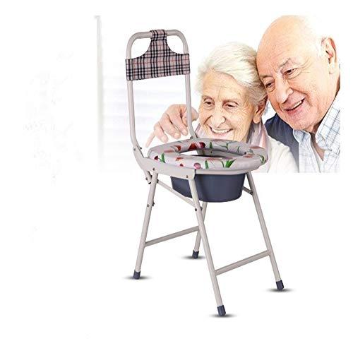 WAWAYU WC Portátil, Silla WC Engrosada, Conveniente for Las ancianas, Embarazadas, Personas de Movilidad Reducida, Silla Plegable WC.