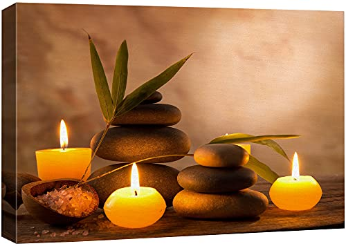 wall26 - Aromatic Candles and Zen Stones - Canvas Art Wall Art - 16' x 24'