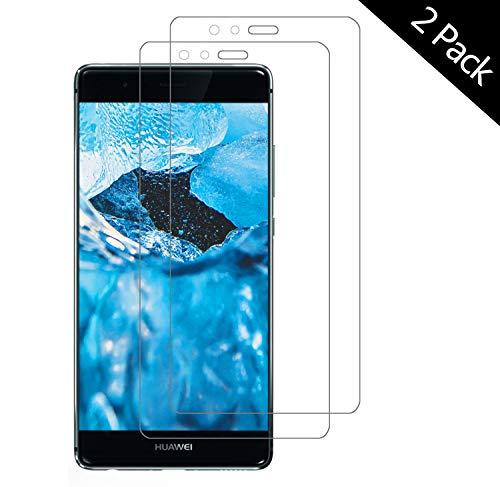 OUJD Protector Pantalla para Huawei P9 Lite ( Paquete de 2 ) - Huawei P9 Lite, Cristal Vidrio Templado Premium