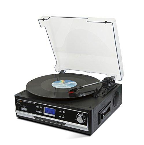 Technaxx 4717 Bluetooth Platten/Kassettendigitalisierer TX-22+ von LPs und Audiokassetten schwarz