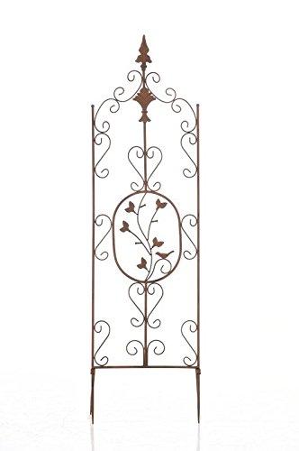 CLP Supporto Piante Rampicanti Burgus in Acciaio I Recinzione Rampicanti 120x35 CM I Graticcio Fiori Rustico I Reticolato Rose, Colore:Bianco Crema