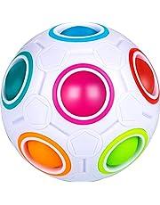 Mamowla Magic Rainbow Ball Magic Arc-en-Ciel Ball 3D Puzzle Ball CubeséCurité des MatéRiaux Abs Jouet Ducatif pour Enfants Adolescents Adultes