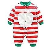 DEBAIJIA Baby Strampler 0-2T Säugling Overall Kleinkind Spielanzug Footed Neugeborene Jumpsuit Nachtwäsche Junge Mädchen Unisex (Rot-59)
