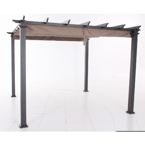 Garden Winds Replacement Canopy for Home Depot Hampton Bay GFM00467F Pergola - Riplock 350 Fabric