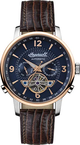 Ingersoll Men's The Grafton Analogue Classic Automatic Watch with Leather Strap I00703B