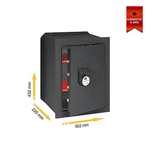 Cassaforte da incasso, con combinazione a elettronica digitale, serie 450 stark 456N, 502 x 432 x 220 mm