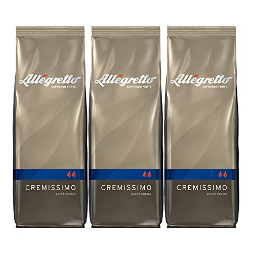 Allegretto Cremissimo, 500g, ganze Bohne, 3er Pack