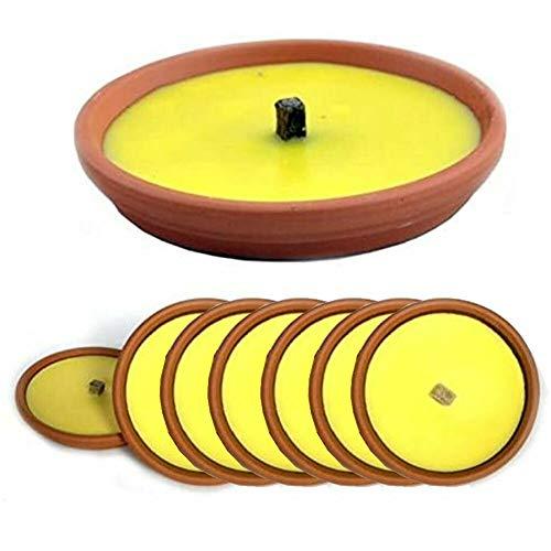 BAKAJI Confezione Risparmio 10 X Fiaccola Candela Aroma Citronella Cocci in Terracotta Diametro 17cm Antizanzare
