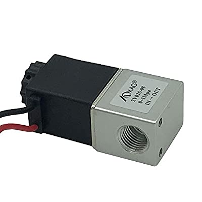 "AOMAG 1/4"" NPT Electric Solenoid Valve 110 V AC Air Water 2 Way Valve Normally Closed by AOMAG"