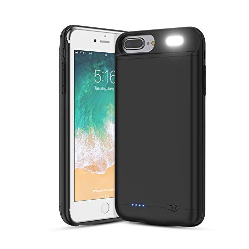 Vancely Cover Batteria per 6S Plus/iPhone 6 Plus/7 Plus/8 Plus, 7000mAh Cover Ricaricabile Custodia Batteria Cover Caricabatteria Battery Case per 6S Plus/iPhone 6 Plus/7 Plus/8 Plus[5.5'']Power Bank