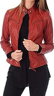 Women's Lambskin Leather Moto Biker Jacket - Winter Wear
