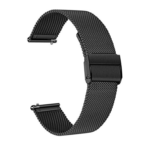 XXY Strap De Banda De Reloj De 22 Mm Milanda para Huawei Watch GT / GT2 46mm / 2e / Honor Magic 2 46mm Pulsera Banda De Pulsera Reemplazo De La Pulsera Correa (Color : Black, Size : 22mm)