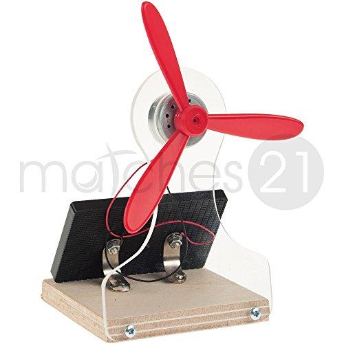 matches21 Solar Tischventilator Bausatz inkl. Solarzelle & Elektromotor Werkset Bastelset geeignet ab 12 Jahren