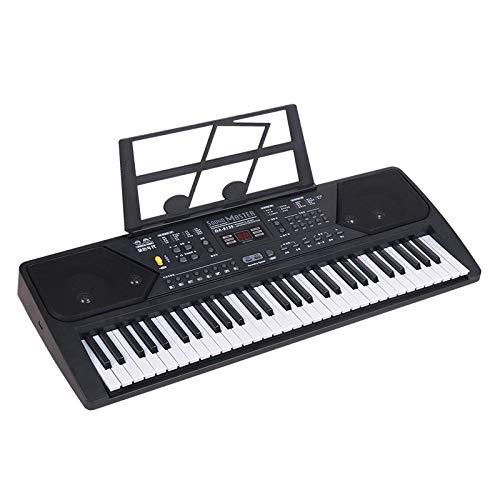 FFCVTDXIA Piano electrónico Infantil 61-Key Micrófono Piano eléctrico Negro zhihao