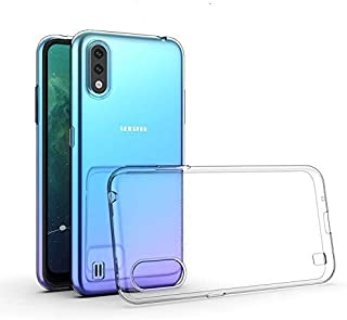 Samsung Galaxy A01 Case Cover Clear Slim Shockproof Anti-Slip Grip Soft Transparent case with Best Camera Protection & Ant...