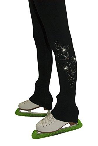 Pantaloni de Pattinaggio Paradice con Cristallo di qualita AAA +. Modello di Pluma, Colibri, Snowflake o Rondine (HIRONDELLE, 08)