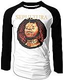 Camiseta de béisbol para hombre Sepultura Roots Raglan manga larga Camisetas