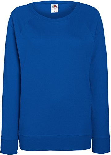 Damen Lightweight Raglan Sweat - In vielen tollen Farben Farbe Royal Größe L