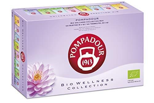 Colección Pompadour 1913 de tés de hierbas orgánicos surtidos para el bienestar, para tu cuerpo - 1 x 120 bolsitas de té (234,75 gramos)