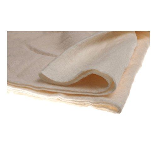 Hobbs, telón de algodón, Pieza Artesanal de Herencia Familiar, Color Blanco.