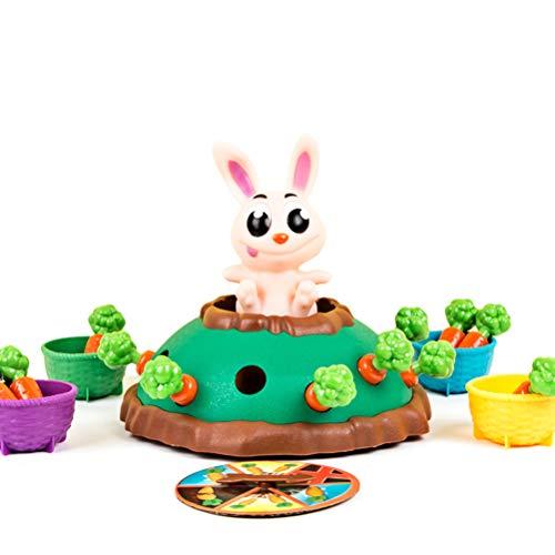 Kasfam Giochi da Tavolo con Carote Carota Spavento Giocattoli elettrici Giocattoli interattivi per Bambini Divertente rimbalzante