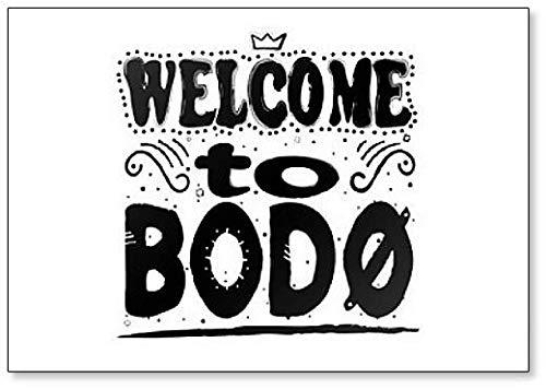Welkom bij Bodø (Bodo) - Gemeente in Nordland County, Noorwegen Illustratie Koelkast Magnet