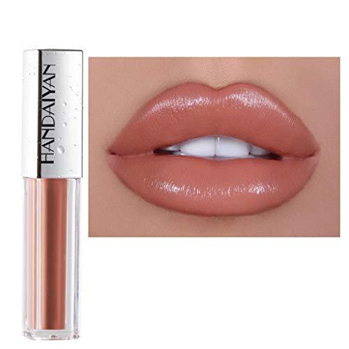 Lippenstift,2028 Matt Wasserfest Göttin lippenstift langanhaltende Lippenwäsche-flüssiger Lippenstift-wasserdichter Lippenglanz-Make-up