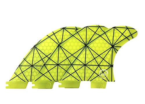 Liquida FCS 2 Honeycomb - Aletas de fibra de vidrio (G5), amarillo