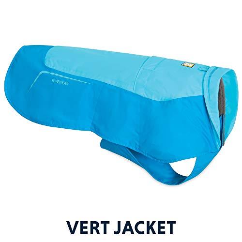 "Ruffwear Hundejacke ""Vert"", Wasserdichter Hundemantel – Atoll-Blau, XXS"