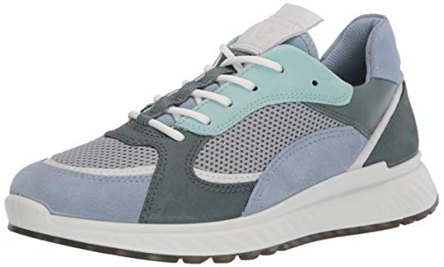 Ecco Damen ST.1W Sneaker, Blau (Dusty Blue/White/Concrete/Lake 51890), 40 EU