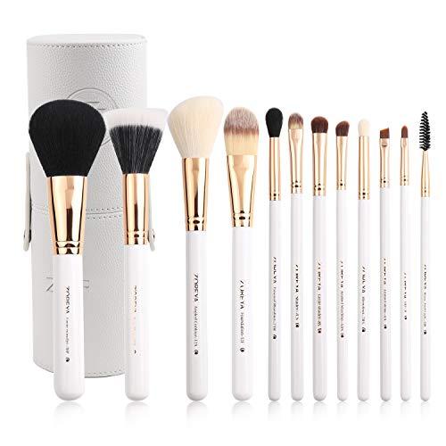Outils de beauté très utiles Outil de maquillage pour femmes Brush Fiber Brush Foundation - 12pcs (blanc)