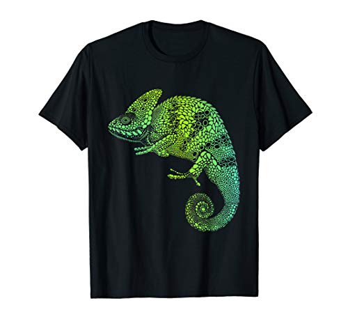 Buntes Chamäleon Chamäleons T-Shirt