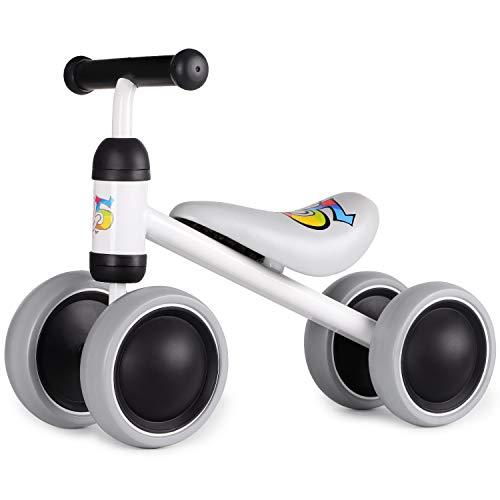 Hadwin Kinder Balance Laufrad Lauflernrad ohne Pedale, Rutschrad ab 1 Jahr, Spielzeug für 18-36 Monate, Baby Geschenk für Jungen/Mädchen (Weiß)