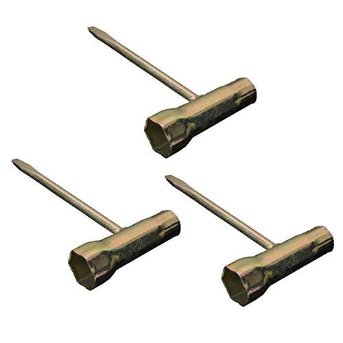 EsportsMJJ 3 stuks 13 x 19 mm kettingzaag T-sleutel voor motorzaag Stihl Husqvarna Tool