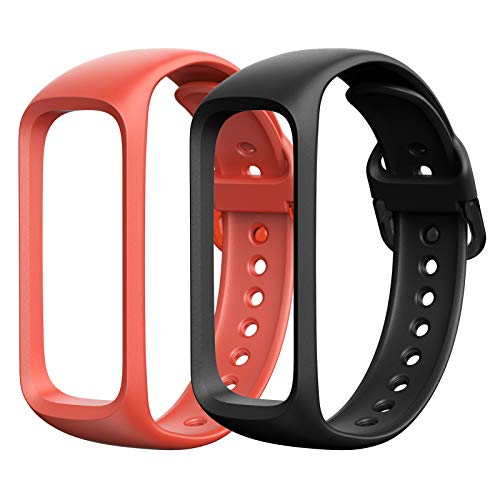 SPGUARD Strap Compatible with Samsung Galaxy Fit 2 SM-R 220 Straps, Adjustable Soft Silicone Replacement Wristbands Bracelet for Women Men