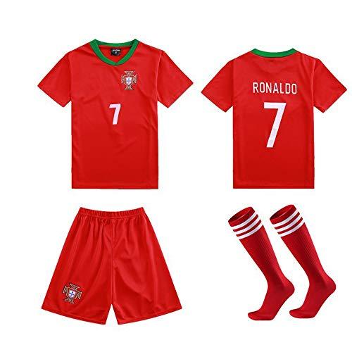 LQsy Ropa Deportiva De Fútbol, Adecuada para Niños, Juego De Parejas, Equipo De Portugal 7# Ronaldo Jersey